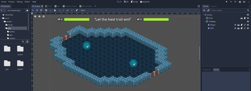 Building a head-up display in Godot Engine