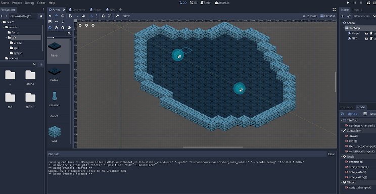 First steps in Godot Engine